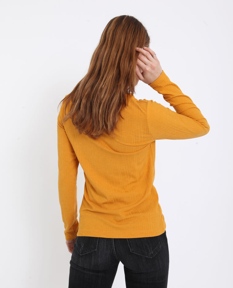 T-shirt a coste giallo