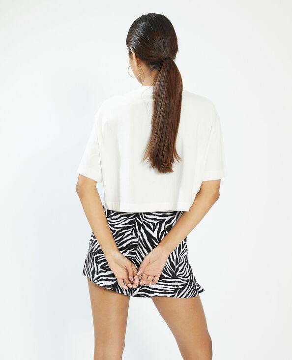 T-shirt cropped bianco - Pimkie