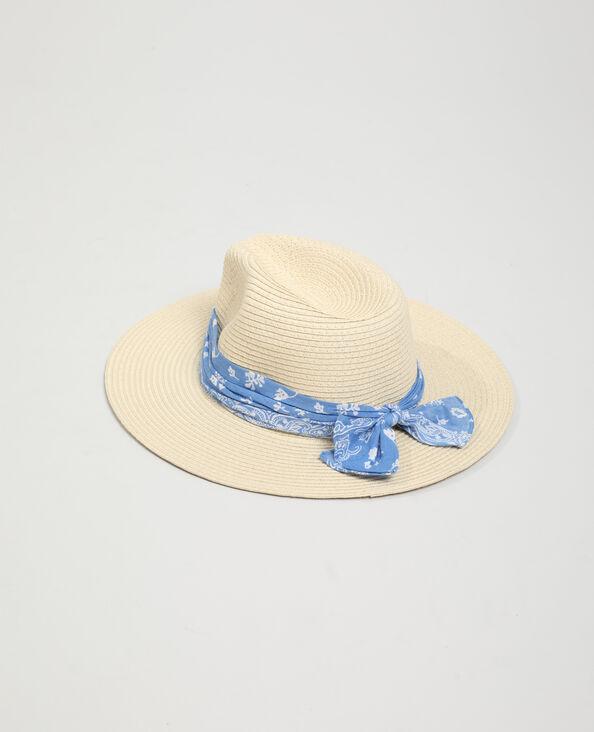 Cappello di paglia con bandana beige - Pimkie