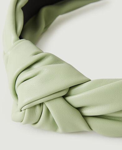 Cerchietto in similpelle verde acqua - Pimkie