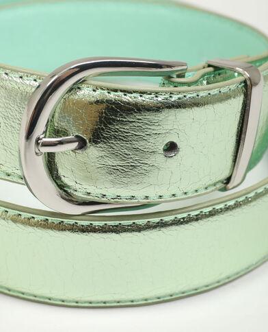Cintura in similpelle lucida verde acqua - Pimkie