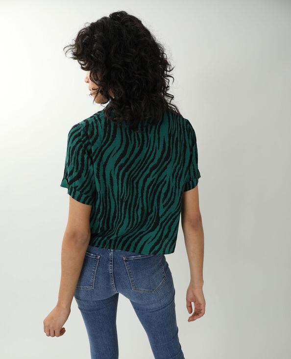 Camicia tigrata nero + verde - Pimkie