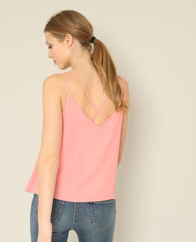 Top con spalline sottili rosa