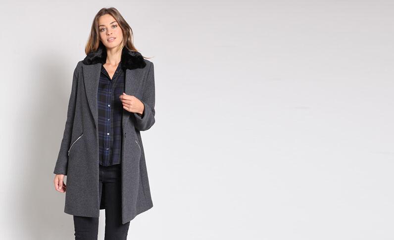 Cappotto lungo grigio
