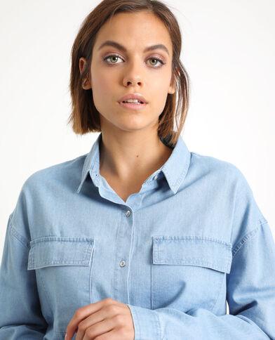 Camicia con le tasche blu