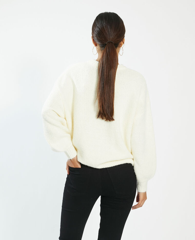 Pull oversize bianco - Pimkie
