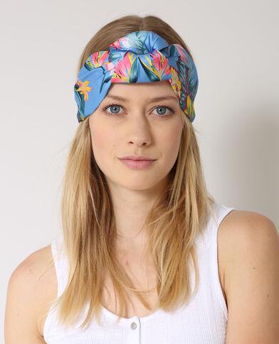Headband tropicale blu