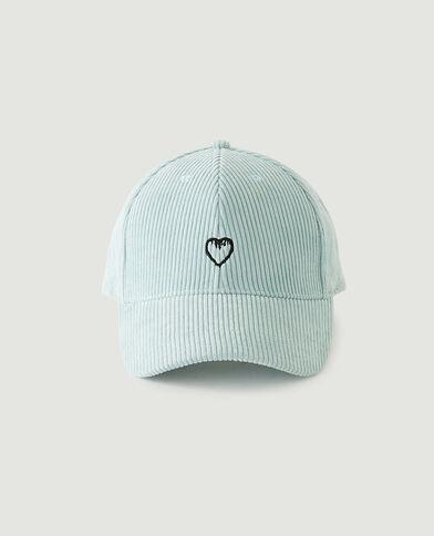 Cappellino a coste blu cielo - Pimkie