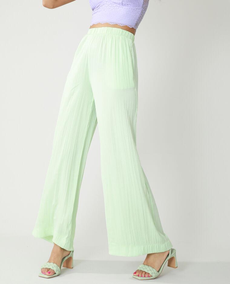 Pantalone wide leg plissettato verde - Pimkie