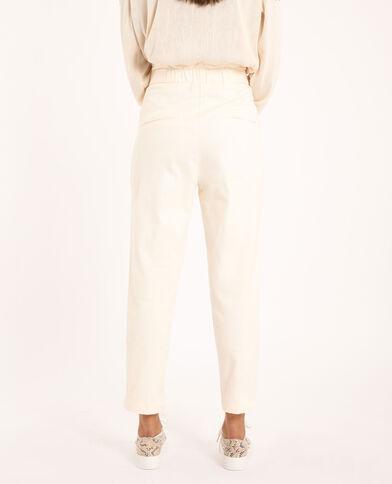 Pantalone a carota beige