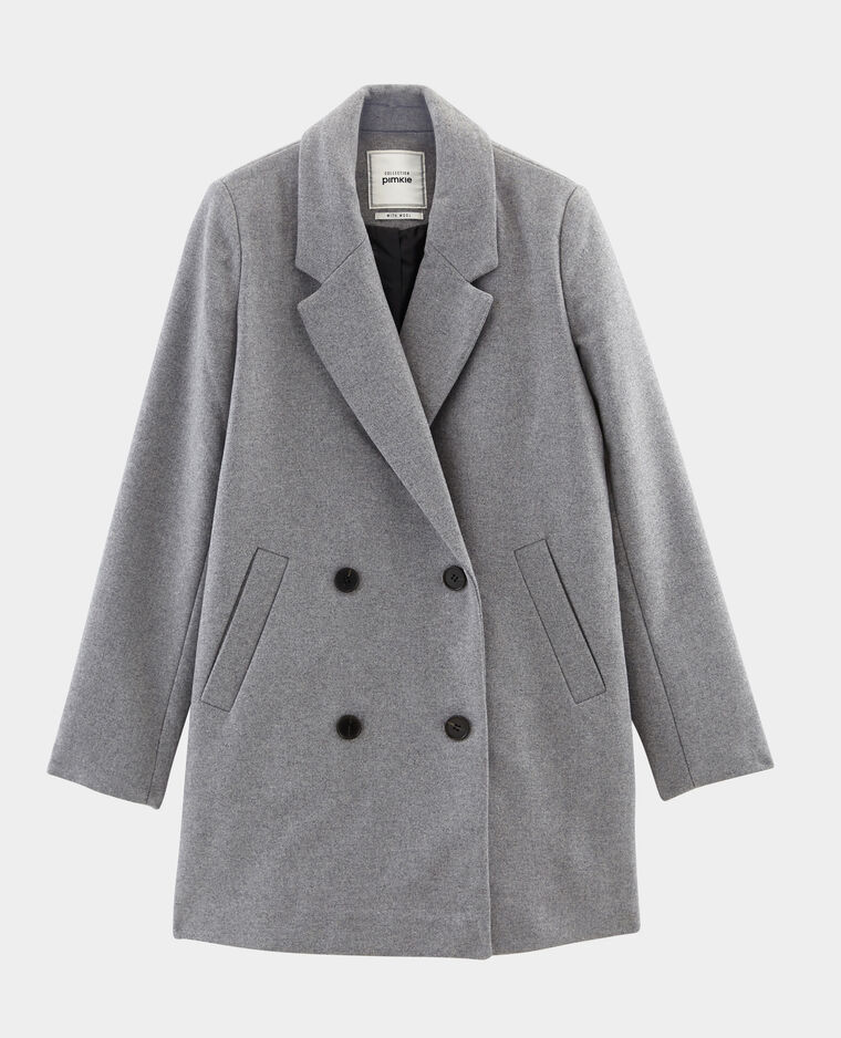 Cappotto in lana grigio chiné - Pimkie