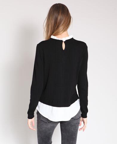Pull camicia nero
