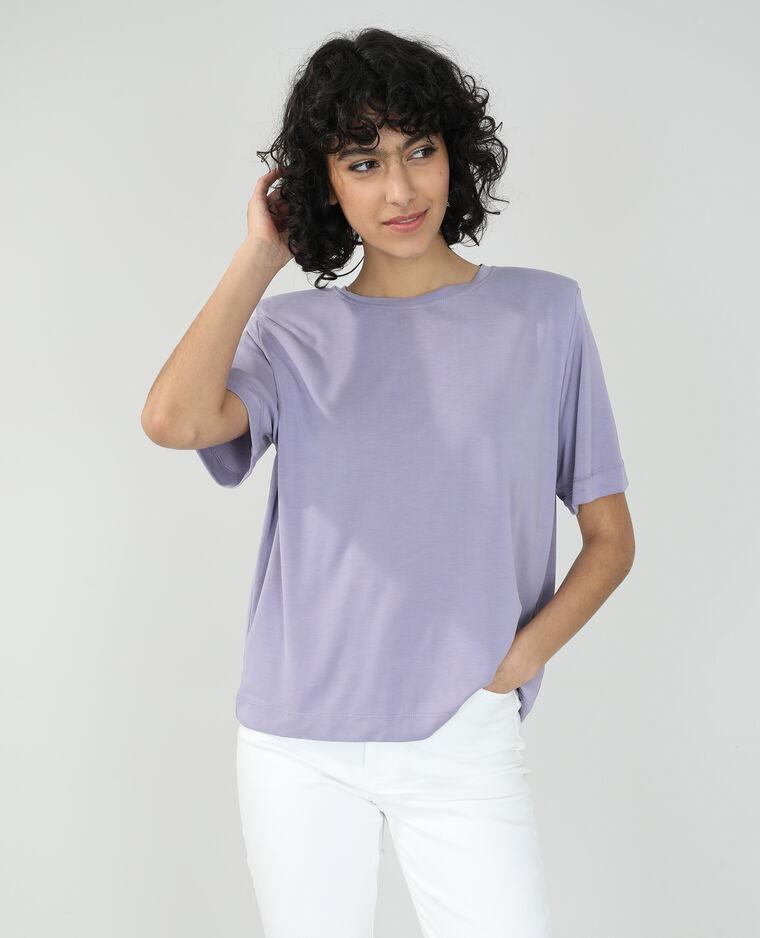 T-shirt con spalline viola - Pimkie