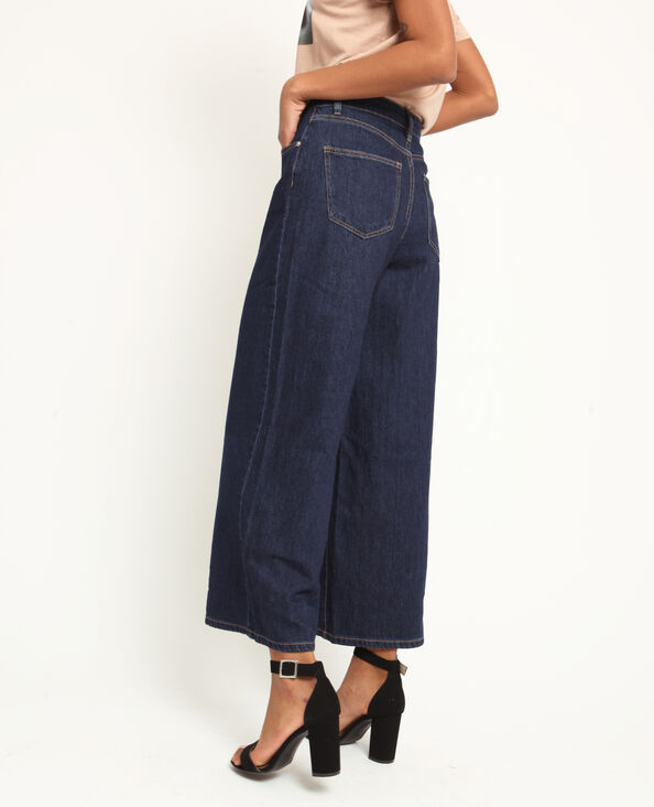 Jeans con gambe larghe blu