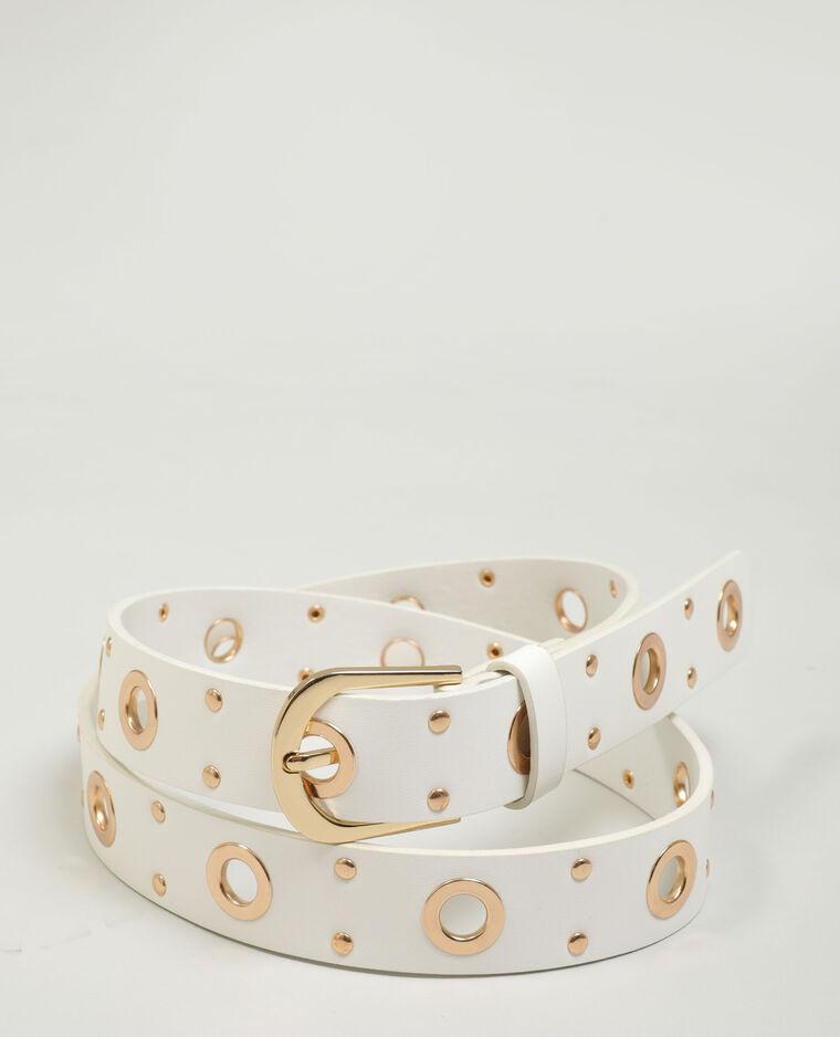 Cintura in similpelle con occhielli bianco sporco - Pimkie