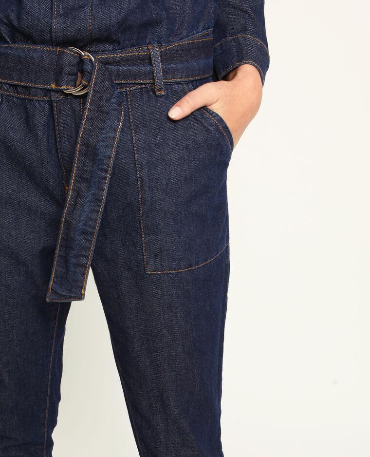 Tuta in jeans blu scuro