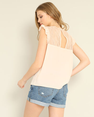 Blusa in pizzo rosa