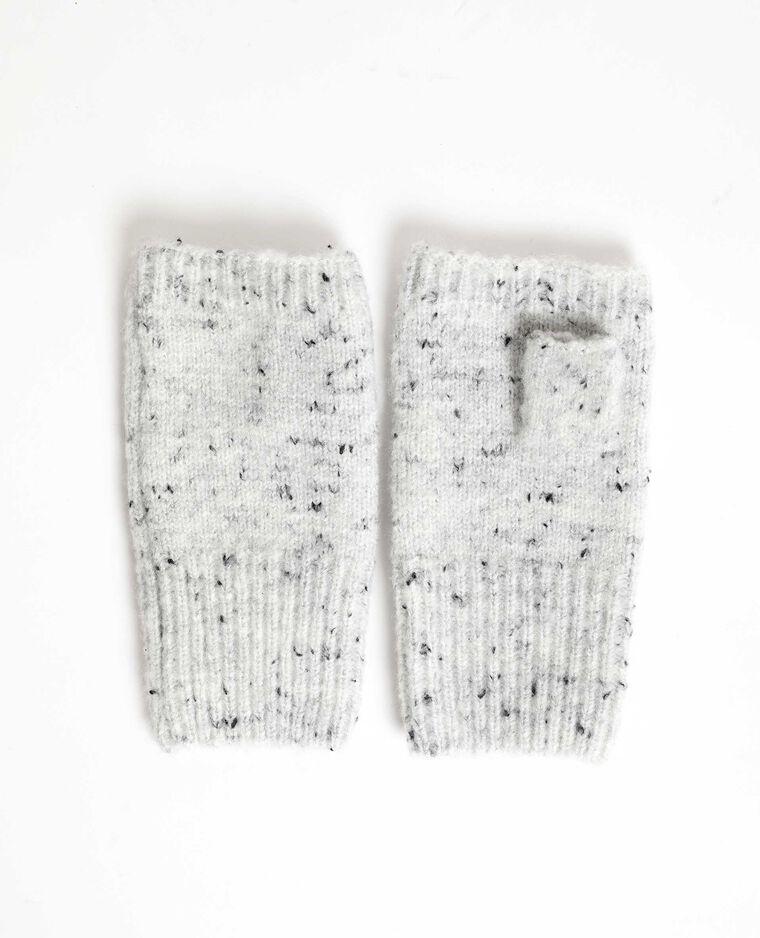 Mezzi guanti in maglia chiné grigio