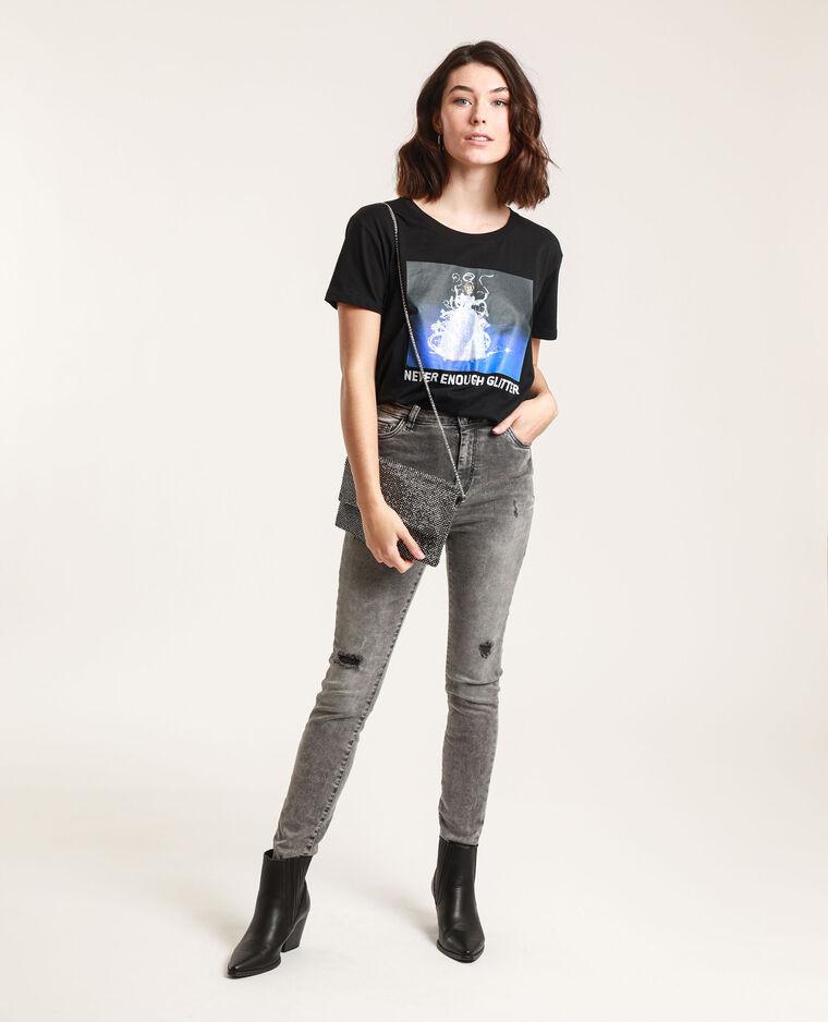 T-shirt Cendrillon nero