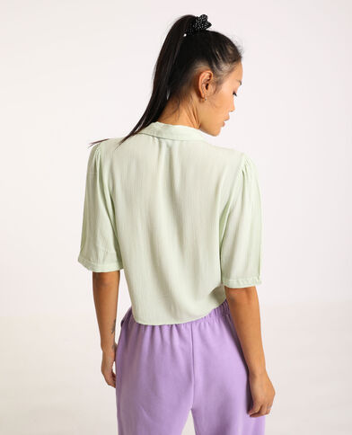 Camicia a maniche corte verde