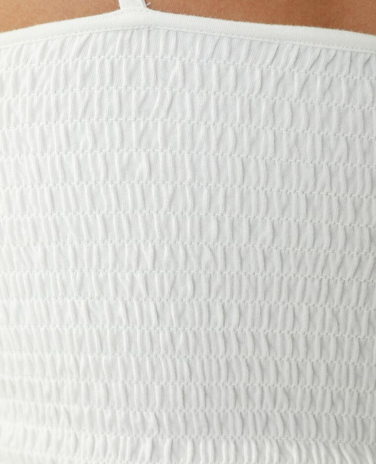 Top con smock bianco sporco - Pimkie