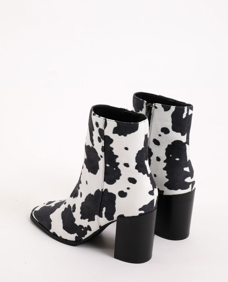 Boots con stampa animale écru