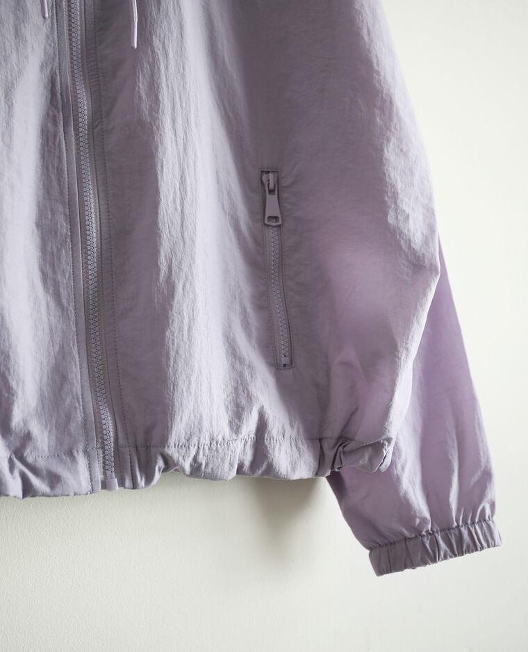 Giacca a vento con cappuccio viola - Pimkie