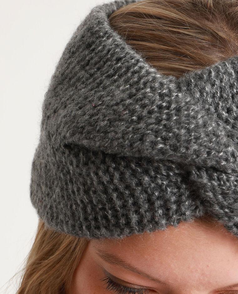 Headband spessa per capelli grigio