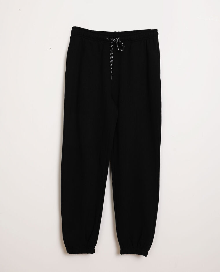 Pantalone in tessuto felpato nero