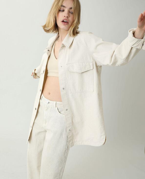 Giacca camicia beige