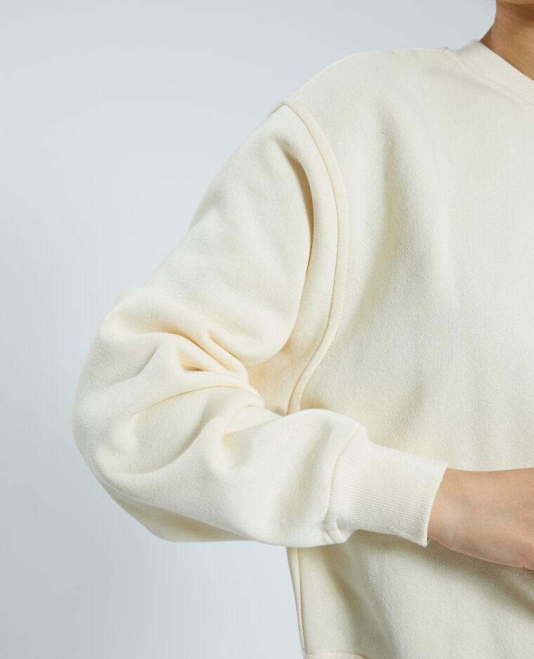 Felpa in tessuto felpato bianco - Pimkie