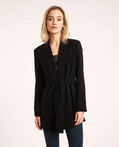 Giacca blazer con cintura nero - Pimkie