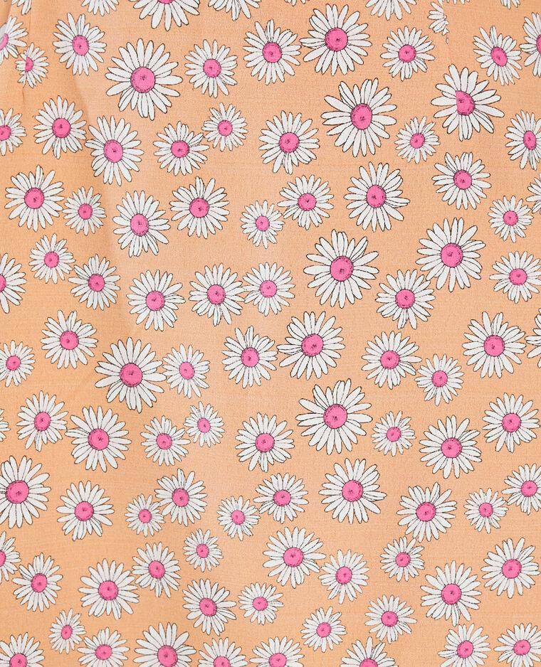 Abito con schiena scoperta a fiori arancio - Pimkie