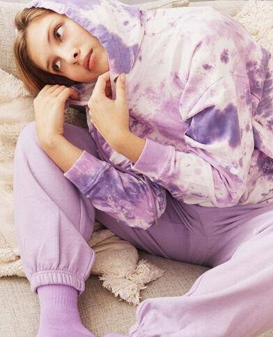 Felpa con cappuccio viola