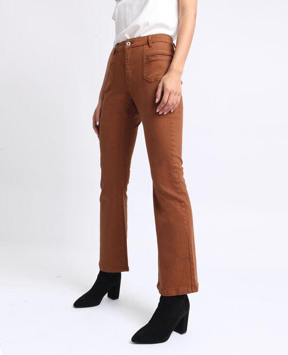 Pantalone flare caramello