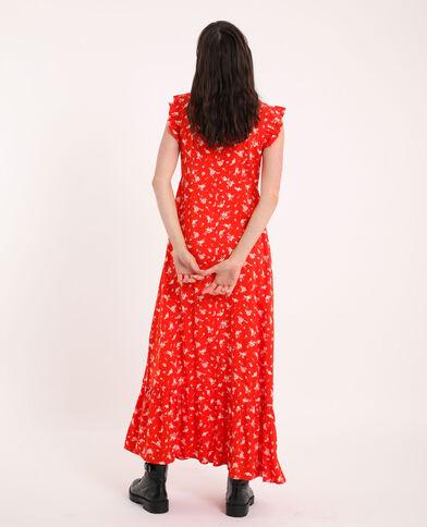 Abito lungo a fiori rosso - Pimkie
