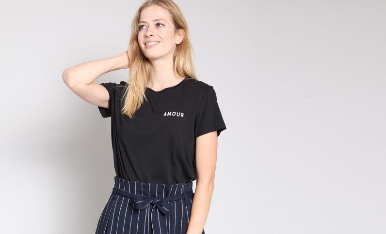 T-shirt amore nero