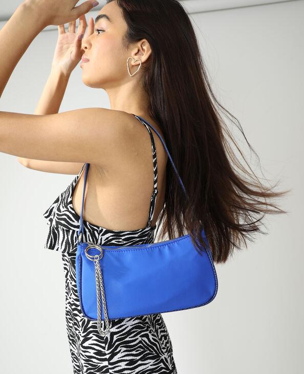 Borsa da spalla con catenella blu elettrico - Pimkie