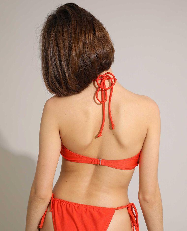 Pezzo sopra di costume da bagno a fascia convertibile arancio - Pimkie