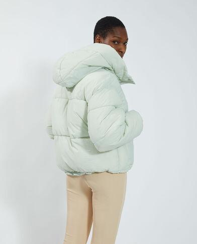Piumino con cappuccio impermeabile verde - Pimkie