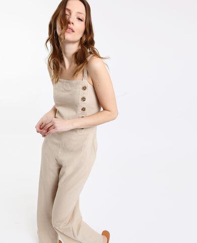 Abito pantalone abbottonato beige