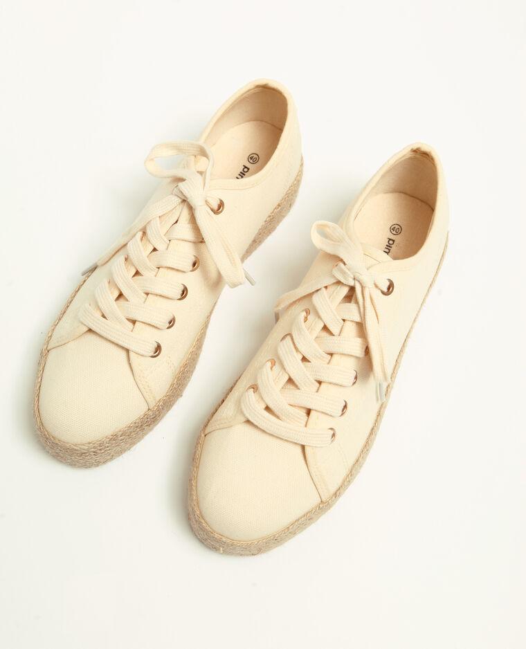 Scarpe sportive suola in paglia bianco