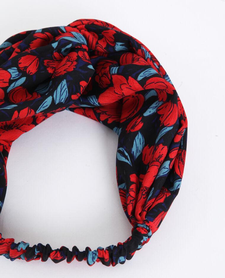 Headband a fiori rosso