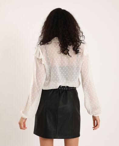 Camicia in plumetis bianco sporco
