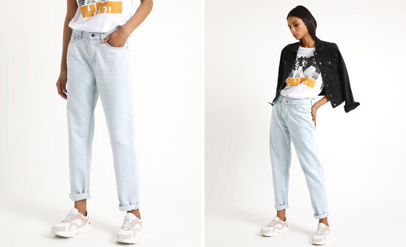 Jeans dritto mid waist blu chiaro