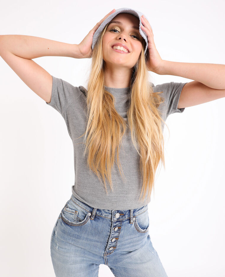 T-shirt morbida grigio chiné - Pimkie