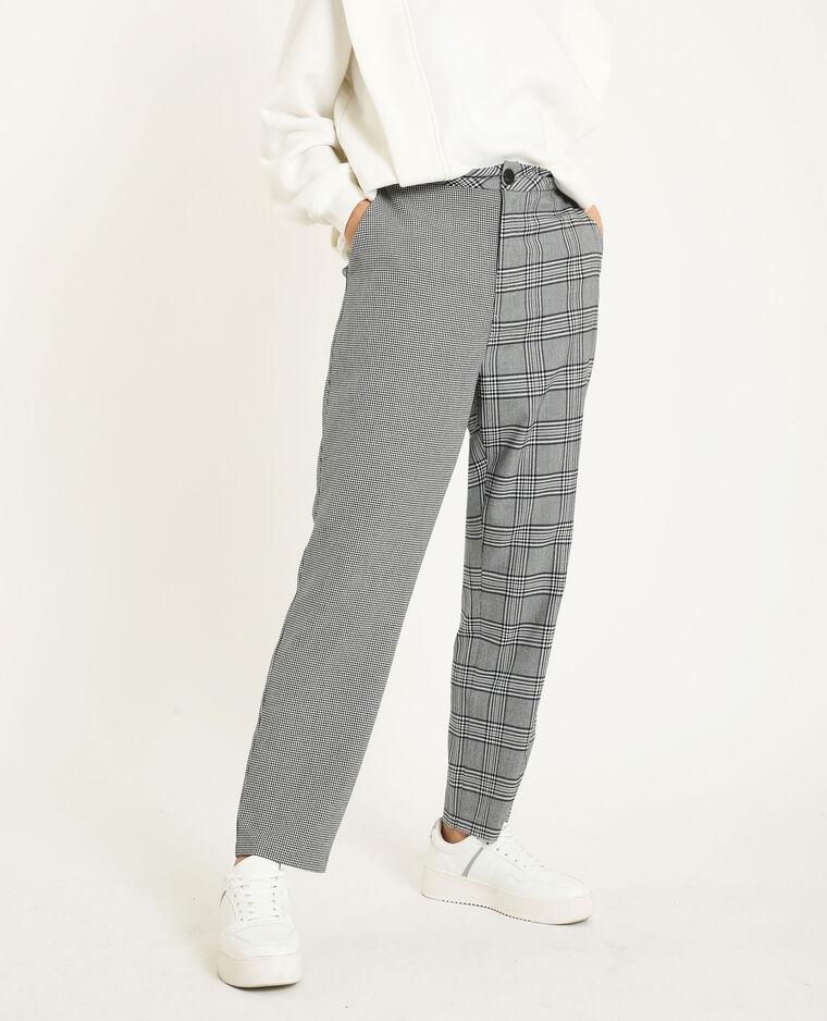 Pantalone a quadri nero