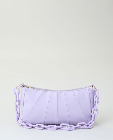 Borsa in similpelle viola