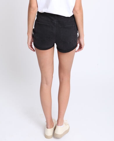 Short in jeans nero