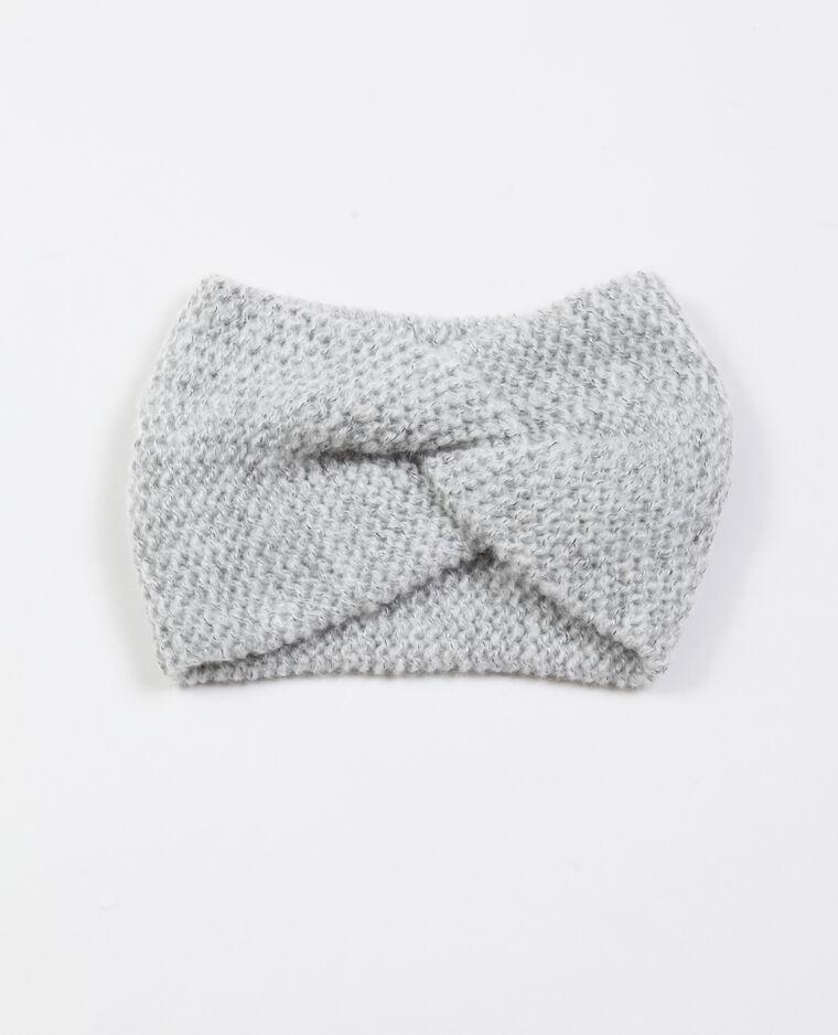 Headband intrecciata grigio perla